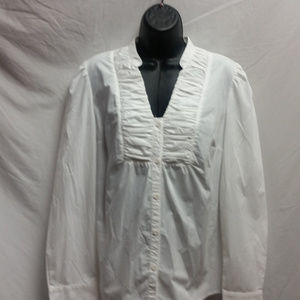 East 5th Long Sleeve White Business Dress Blouse